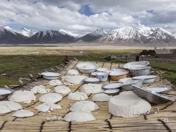 Bowls & cakes of Kurut in the Pamir Mountains, Afghanistan. Image from NATIONAL GEOGRAPHIC, September 2014.