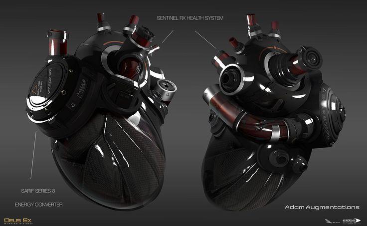 ArtStation - Adam Jensen Augmentations - DXMD, Mathieu Latour-Duhaime