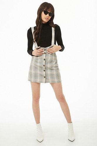 d7e1f9b8f24 Plaid Overall Skirt