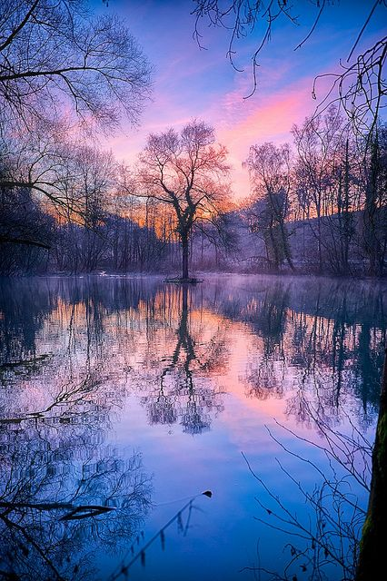 Winter Sunrise by arnie2105, via Flickr I want to be here, and I feel like I have.