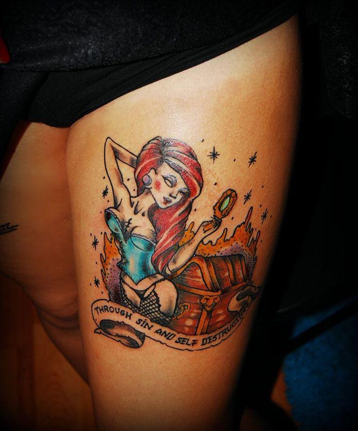 """""""Through sin and self destruction """" oldschool tattoo by Mada https://www.facebook.com/pages/BAStattoo-GALLERYart-caffe/124021327663799?fref=ts"""
