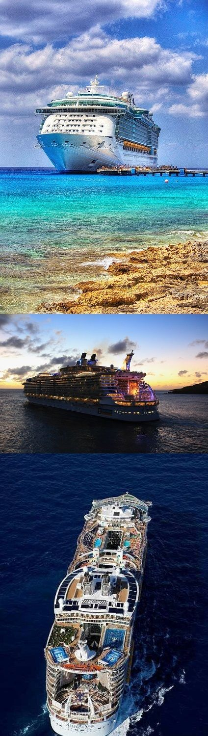 Cruise to Caribbean Islands on Allure of the seas - The largest cruise ship ever! - boarding at Fort Lauderdale in Florida, USA