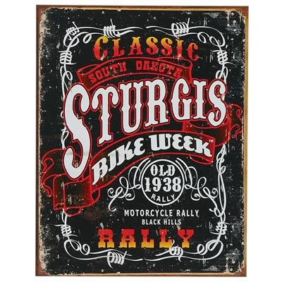 Classic Sturgis Bike Week Weathered Steel Sign - Free Shipping on Orders Over $99 at Genuine Hotrod Hardware