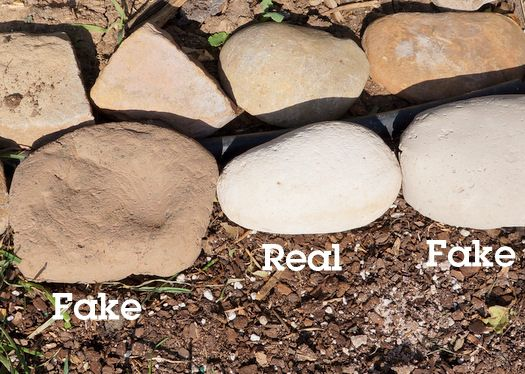 how to make fake rocks 'because real rocks are so hard to come by?! WHAT, who makes their own rocks!'