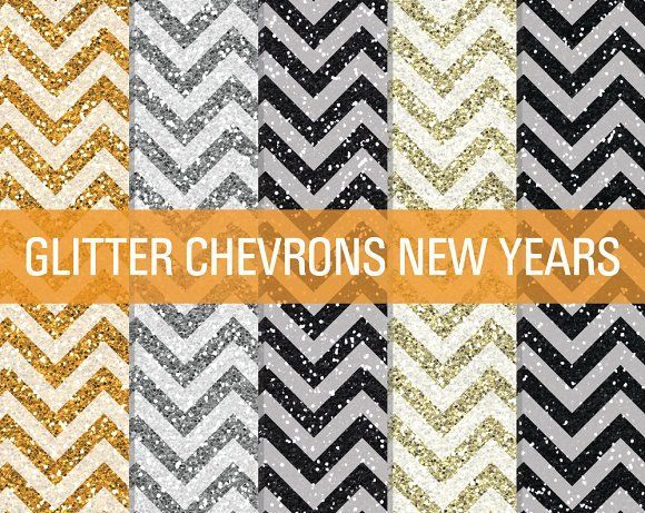 Glitter Chevron Textures New Years by SonyaDeHart on @creativemarket