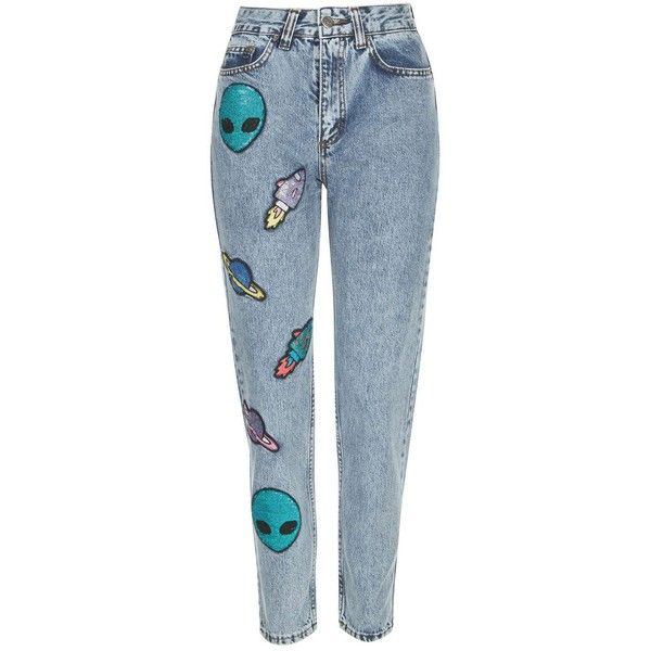 Give Me Space' Acid Wash Jeans by Kuccia (205 BRL) ❤ liked on Polyvore featuring jeans, pants, bottoms, blue, acid washed jeans, blue acid wash jeans, sequin jeans, patching blue jeans and patch jeans