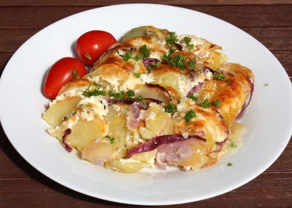 Zapečené zemiaky s bryndzou