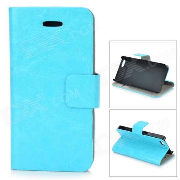 Color: Blue; Brand: NO; Quantity: 1 Piece; Material: PU + plastic; Shade Of Color: Blue; Compatible Models: IPHONE 5S,IPHONE 5; Style: Flip Open; Design: Solid Color,Card Slot; Auto Wake-up / Sleep: No; Packing List: 1 x Case; http://j.mp/1ljEZ1c