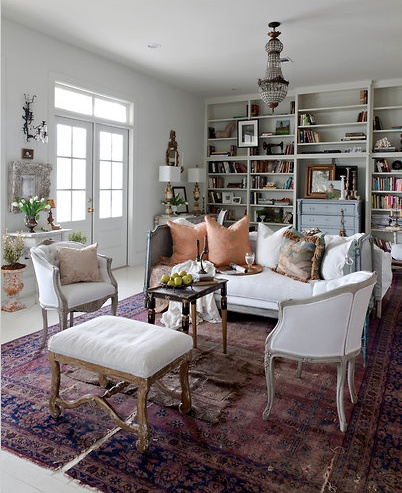 Karina gentinetta painted several antique pieces in her home including the secretary above ralph lauren tudric pewter via a perfect gray ralph lauren