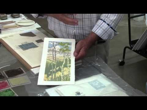 Woodblock Printing demonstration with Reuben Saunders and Leon Loughridge - YouTube