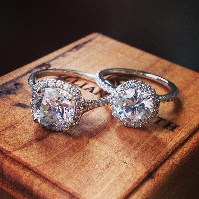 Stunning #halo engagement rings