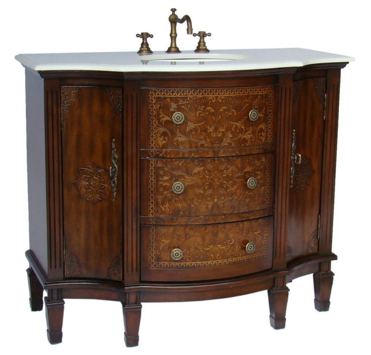 Adelina 42 Inch Vintage French Bathroom Vanity Redecorate Using Our Uniquely Styled Bathroom