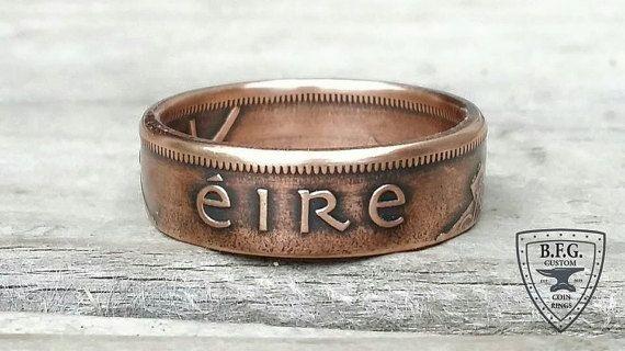 Anillo de monedas de cobre irlandesas - Irlanda d 1 moneda de cobre