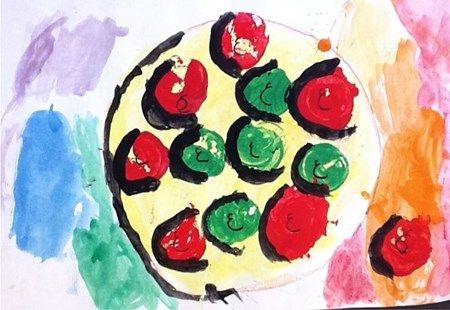 Artsonia Art Museum :: Artwork by Joyce184 Kindergarten Apple still life