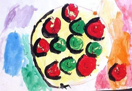 Artsonia Art Museum :: Artwork by Joyce184 Kindergarten Apple still life