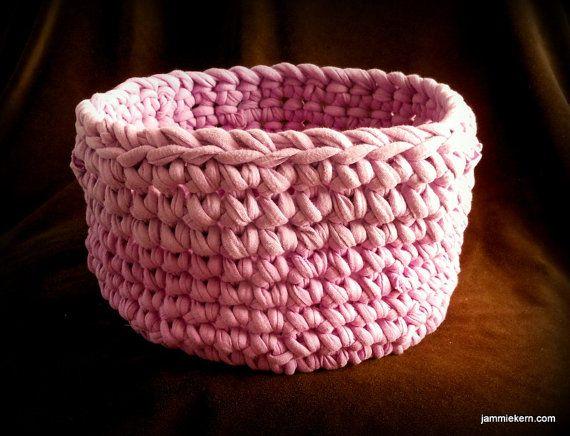 Lavender Purple Chunky Round Basket Crochet by ShortMountain, $35.00