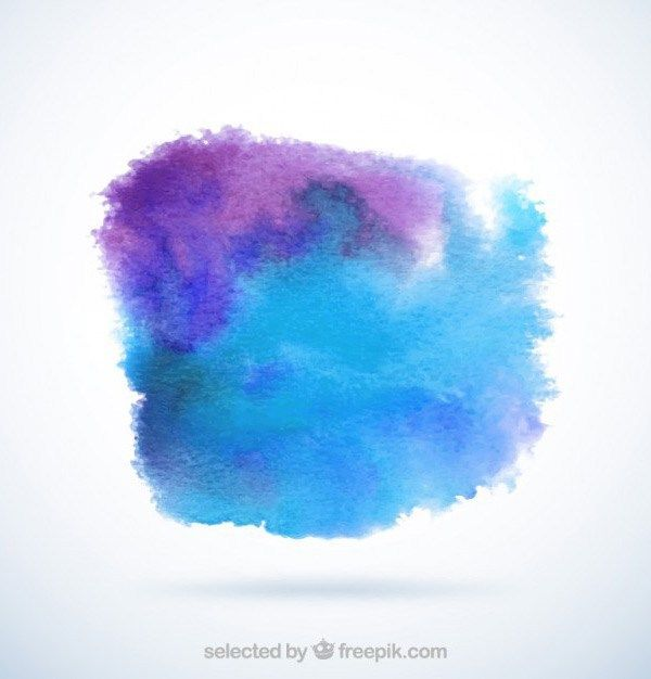 Colorful Watercolor Patch Background Vector Free Image By