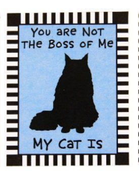You are not the boss of me ~ my cat is!