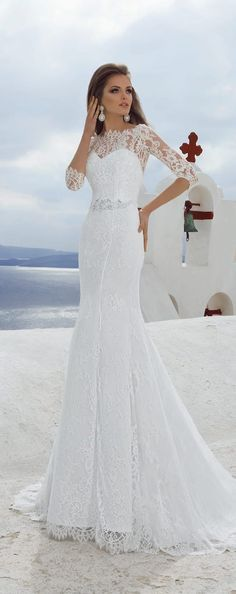 Lace mermaid wedding dress by Lanesta Bridal -Story of the Rose Collection - Belle The Magazine
