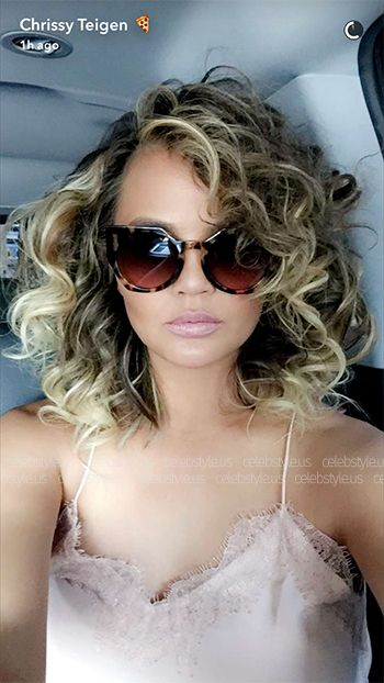 Chrissy Teigen wearing a Cami NYC The Racer Camel Cami top https://api.shopstyle.com/action/apiVisitRetailer?id=537682391&pid=uid7729-3100527-84. #style #celebstyle #caminyc #tops #snapchat