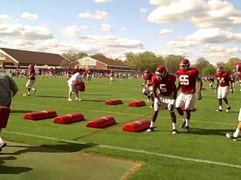 Alabama Spring Football - Linebacker Drills (Pt. 2) - YouTube