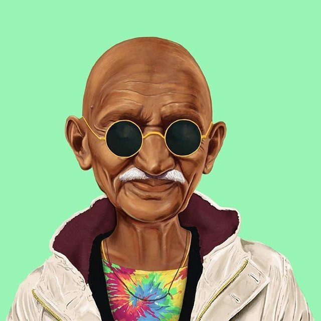 Gandhi  This Creative Artist Re-Imaged 18 World Leaders As Hipsters • Page 2 of 5 • BoredBug