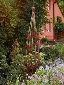 Rankhilfe Spiral-Obelisk aus Weide