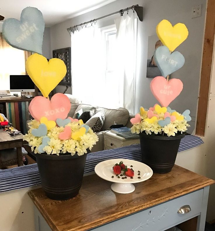 Grab an empty flower pot. Her front porch idea so adorable!