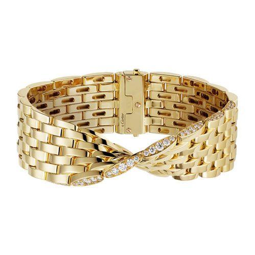 Cartier Bracelet de la collection Maillon Panthère Ivresse en or jaune et diamants