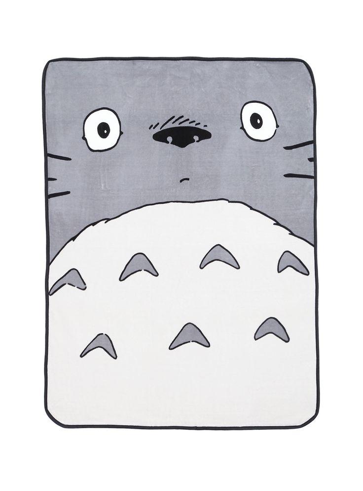 """<p>Super soft and super cuddly plush throw with Totoro face design.</p>  <ul> <li>48"""" x 60""""</li> <li>100% polyester</li> <li>Wash cold;dry low</li> <li>Imported</li> </ul>"""