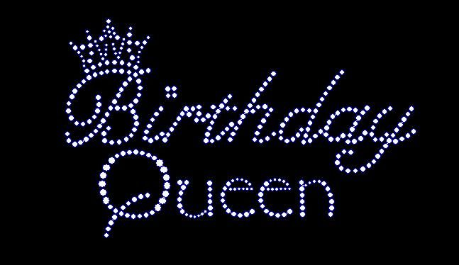 Happy Birthday Bling Women S Birthday Queen Rhinestone