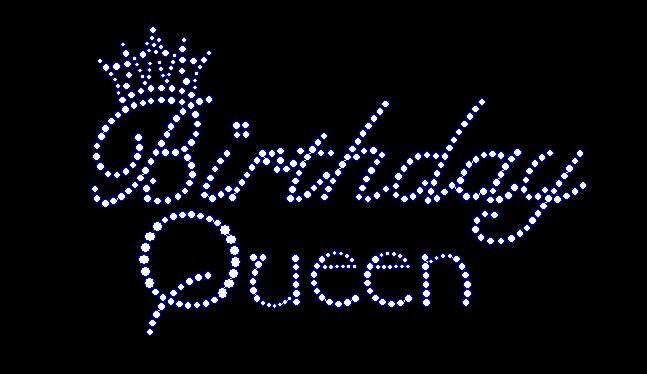 Happy Birthday Bling | Women's birthday queen rhinestone bling shirt