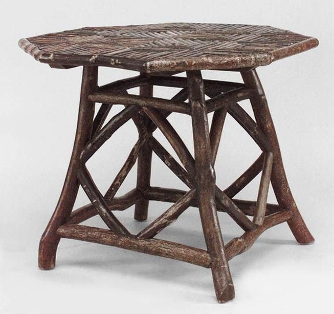 Rustic Adirondack Table Game Table Twig