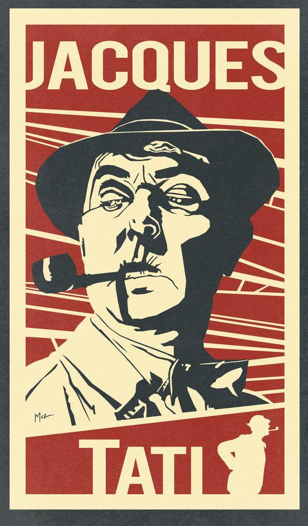 Jacques Tati by Muzski  http://muzski.deviantart.com