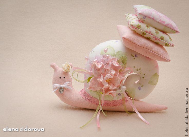 Купить Улиточки - розовый, серый, улитка, тильда, Тильда улитка, улитка Тильда, предмет интерьера