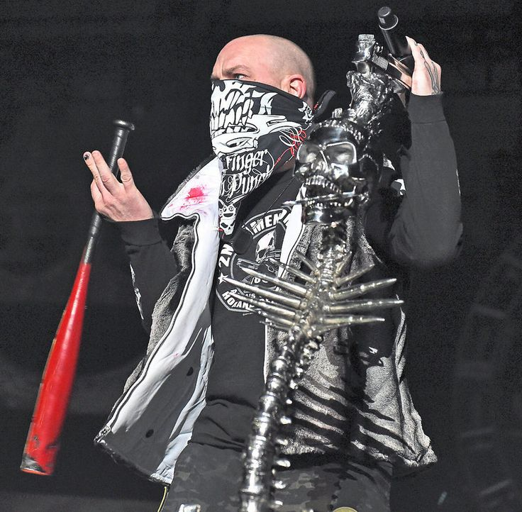 5 Finger Death Punch performs at the Oncenter at War Memorial, September 23, 2014.  The lead singer enters the stage to begin the concert.   Michael Greenlar | mgreenlar@syracuse.com
