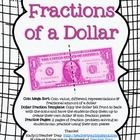Fractions of a Dollar!  Visuals for kids to make!