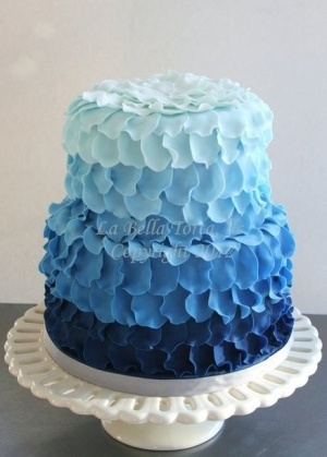 Ombre Petal Cake - Adorable But Not In Blue Necessarily