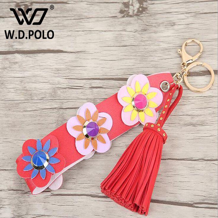 WDPOLO split leather women handbag charms super chic lady shoulder bag accessory high quality spike design girls love flower