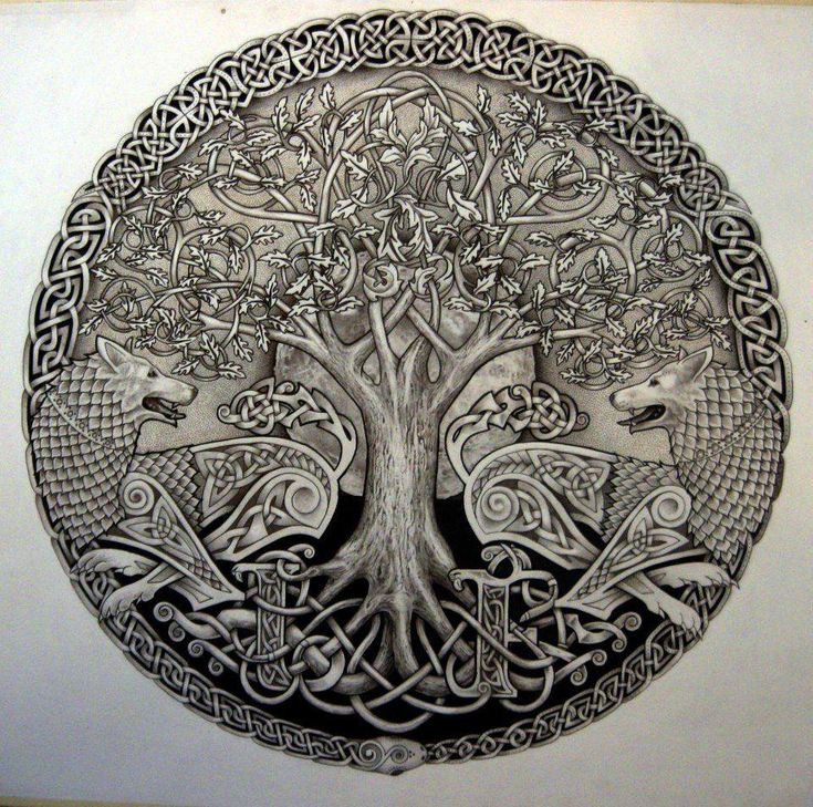 Tree of Life - this is the tree that Odin sacrificed himself on to gain the treasure of the Runes... he suffered for 9 days and nights, lost one eye but returned victorious...