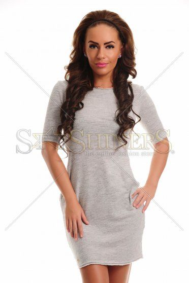 Fofy Loved Pleasure Grey Dress