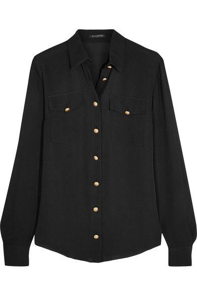 Balmain - Silk Shirt - Black - FR46