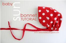 Tutorial: Sun bonnet for baby · Sewing | CraftGossip.com   http://deliacreates.blogspot.com/2012/06/red-sun-bonnet.html