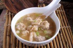 Soupe #wonton au poulet ou dinde