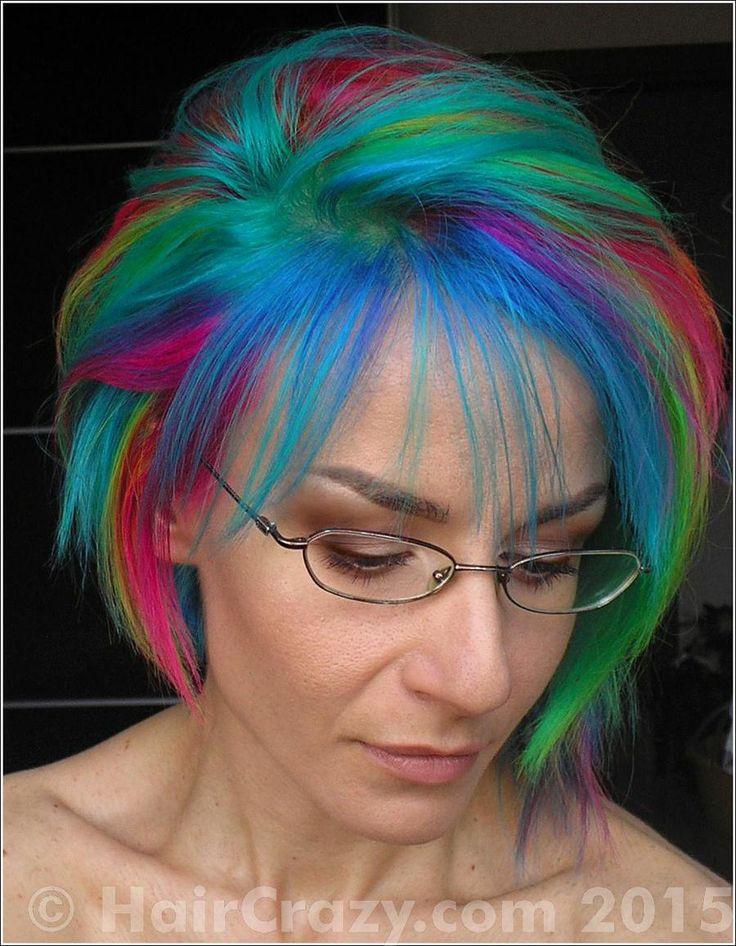 multi coloured hair - Google Search