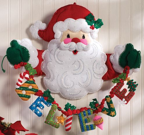 Bucilla Believe in Santa Wall Hanging Applique Kit