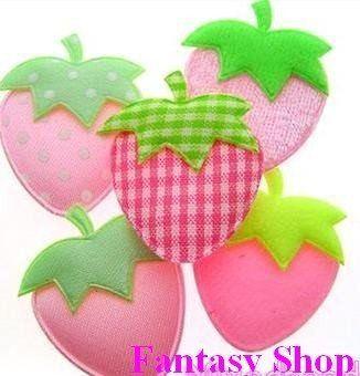 Applicazioni in stoffa fragole, by Fantasy-Shop, 1,30 € su misshobby.com
