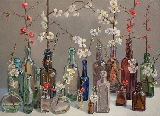 Lucy Culliton, Japonica III, 2011, oil on canvas, 80 x 110 cm. Collection of Duncan & Cath Smith.