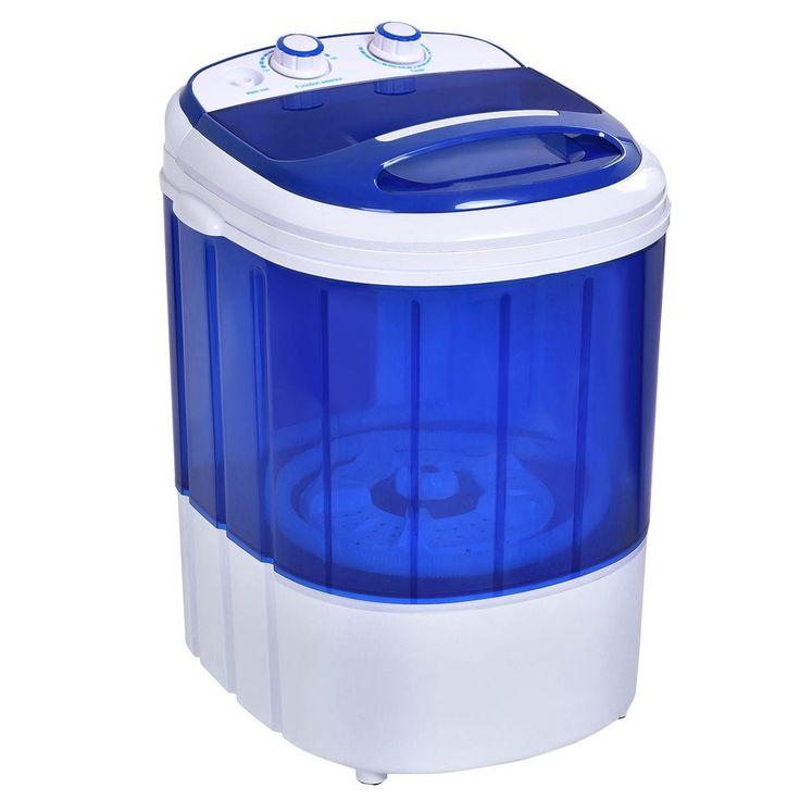 Costway Small Mini Portable Compact Washer Washing Machine 6.6lbs Capacity Blue