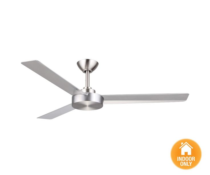Roto 3 Blade Fan Only in Brushed Aluminium